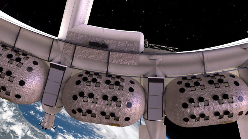 太空酒店环形外观设计