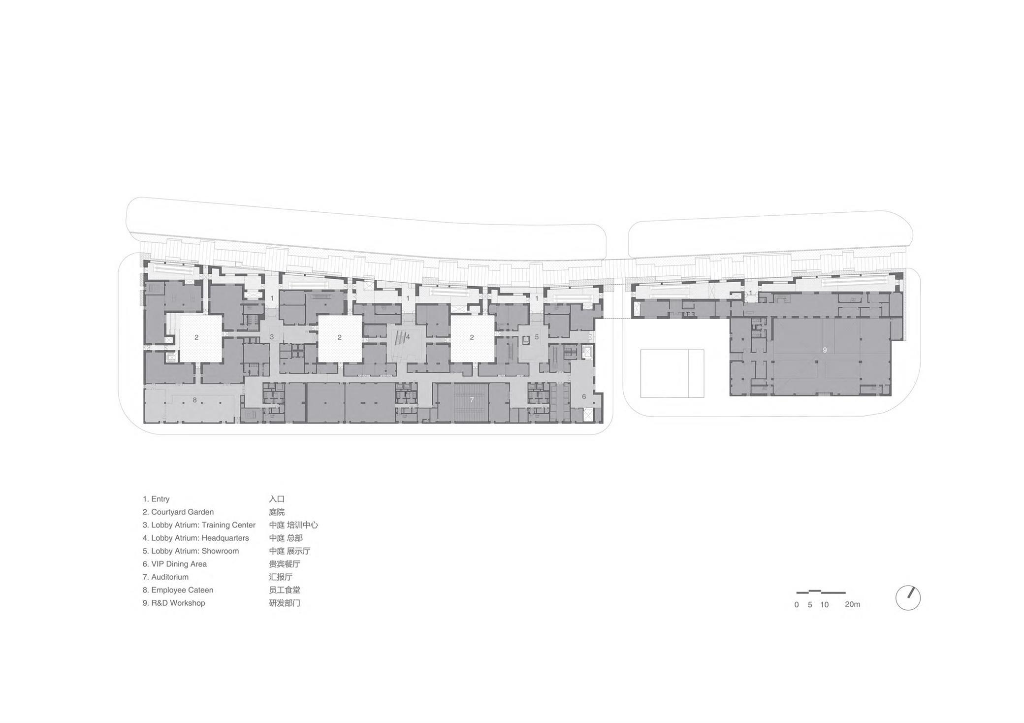 办公园区建筑平面方案设计