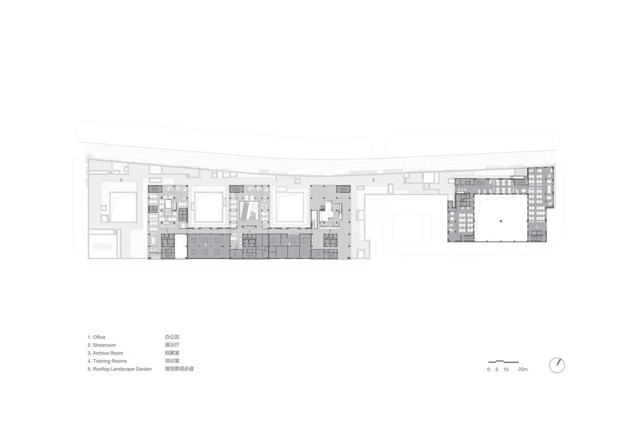 办公楼室内平面方案设计