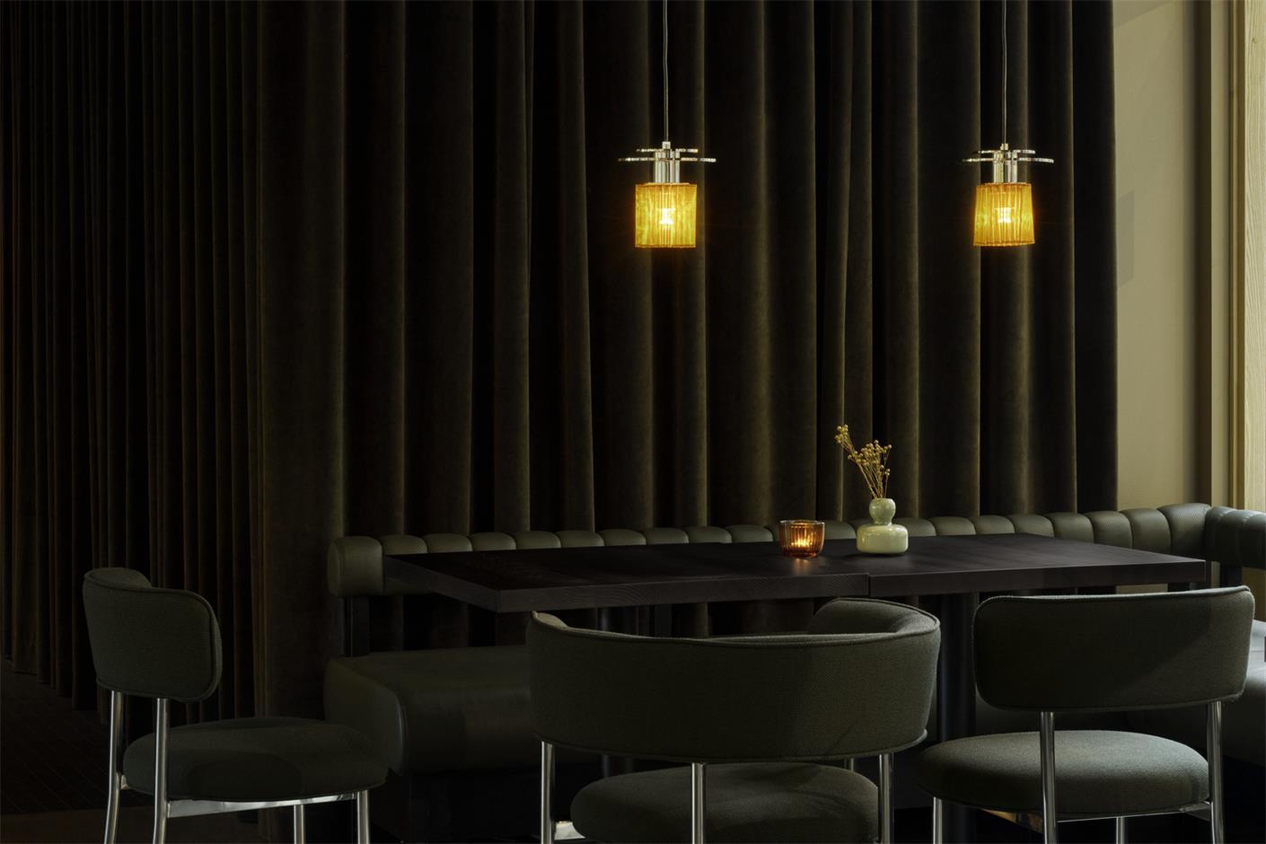 酒店酒吧灯具及拉帘设计