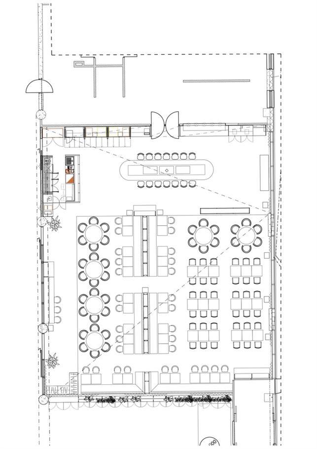 酒店餐厅平面方案设计