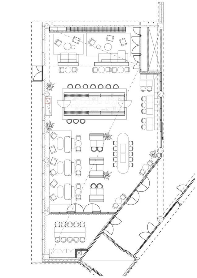 酒店酒吧平面方案设计