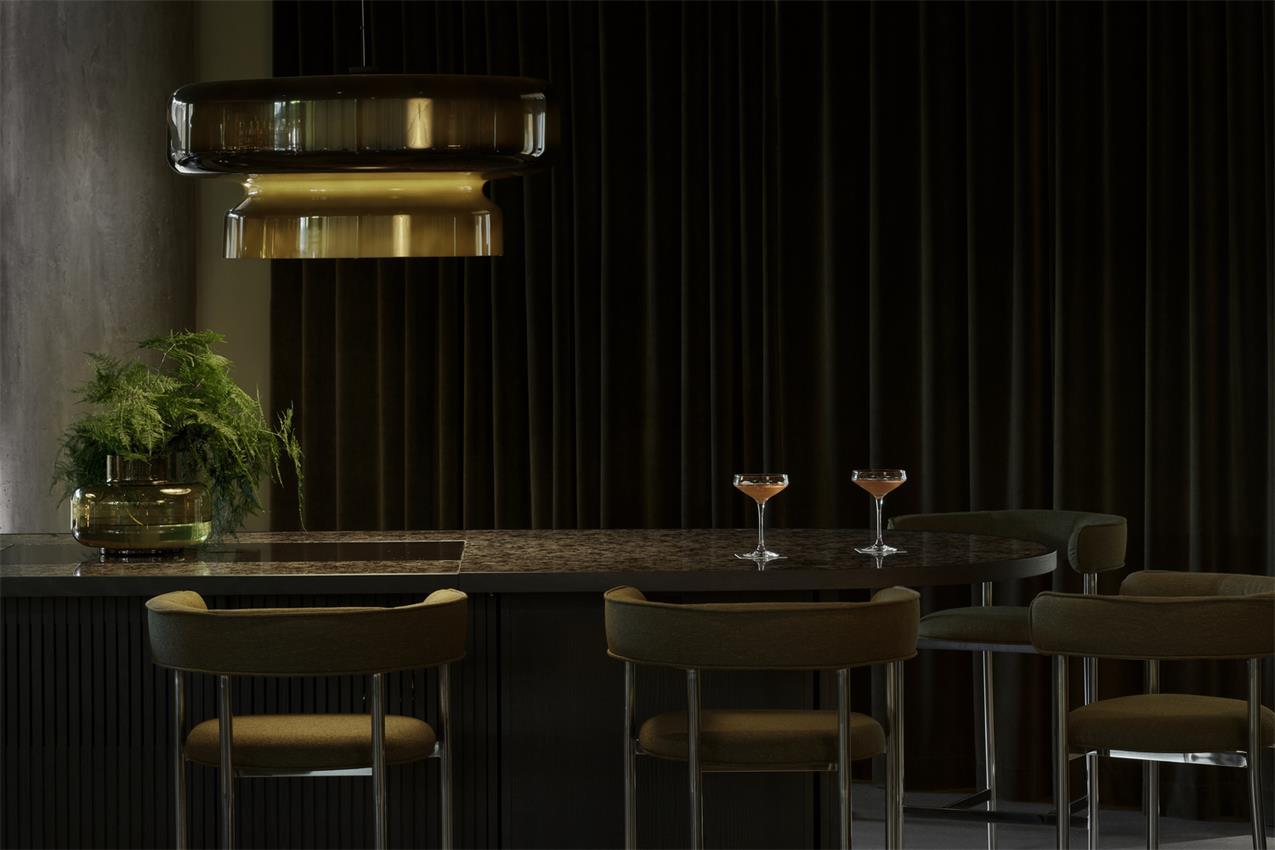 酒店酒吧吧台区设计