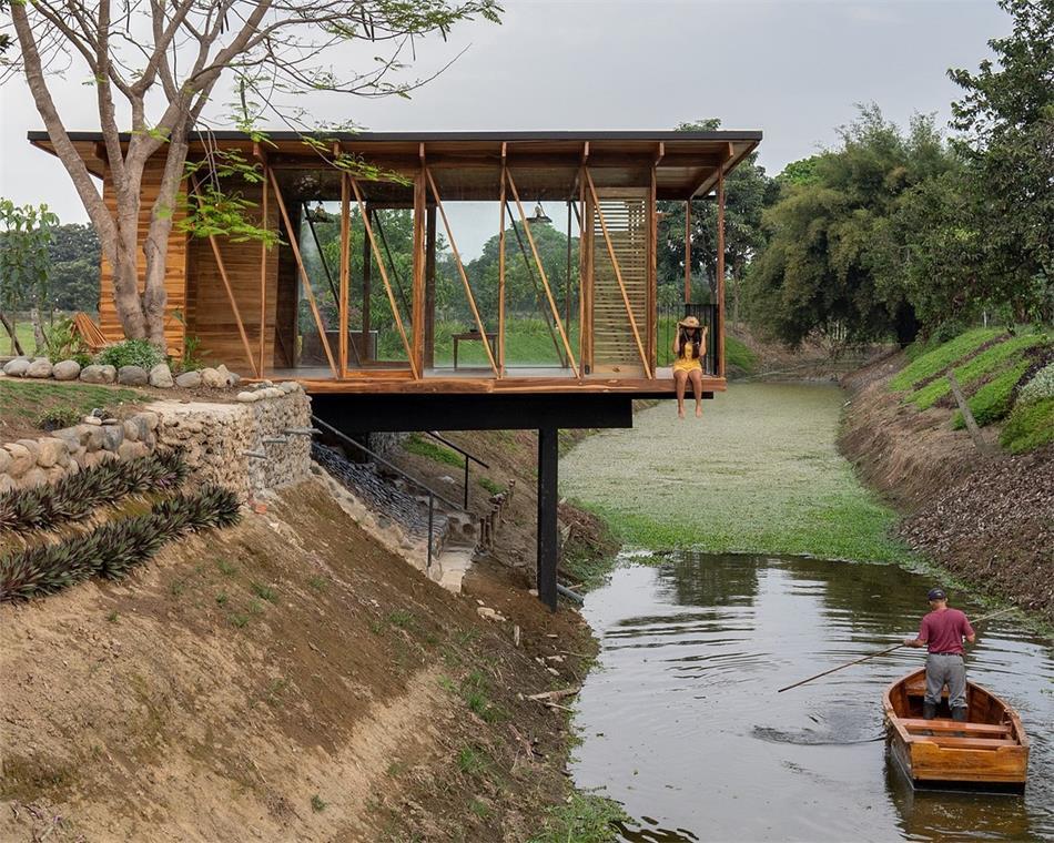 茶室和河堤的关系