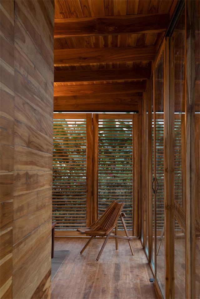 茶室内部百叶窗设计
