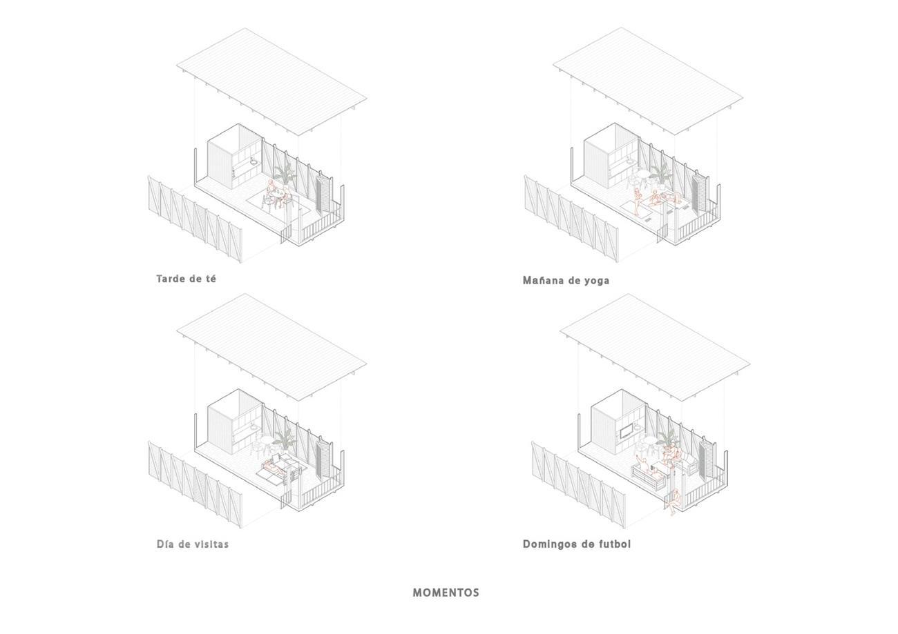 茶室灵活的多功能区域演示