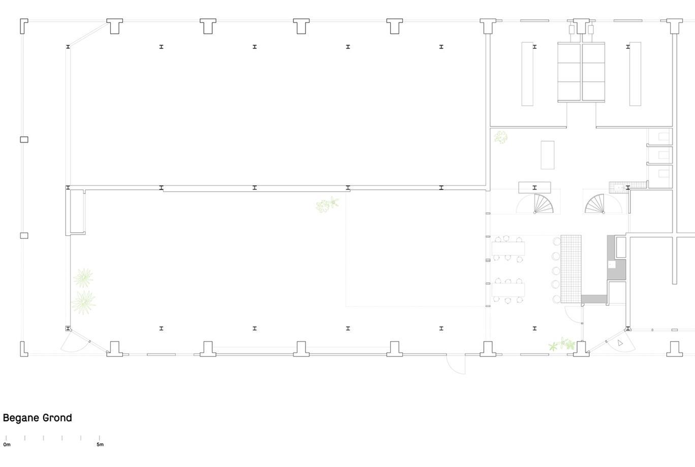 健身房一层平面方案设计