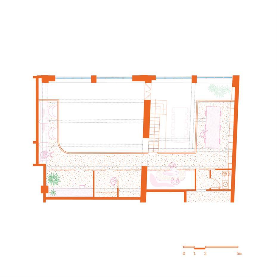 摄影工作室二层平面方案设计