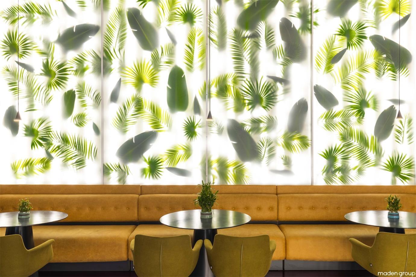 酒吧卡座及背景墙设计