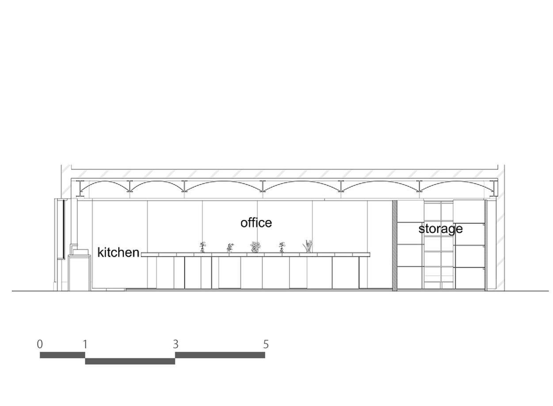 小型办公室立面图