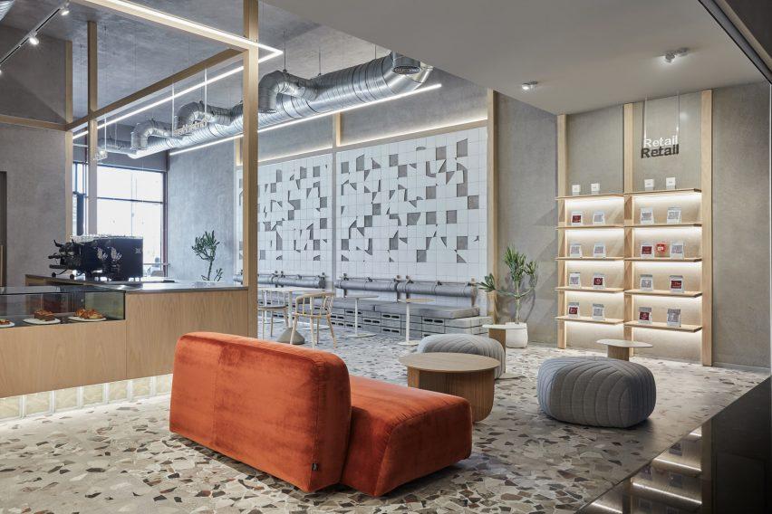 咖啡厅懒人沙发休闲区设计