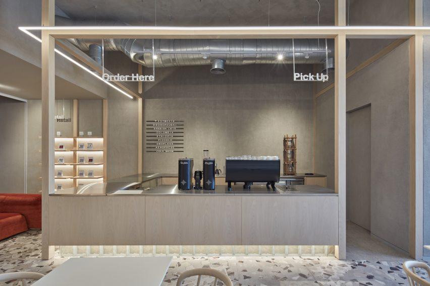 咖啡厅操作吧台设计