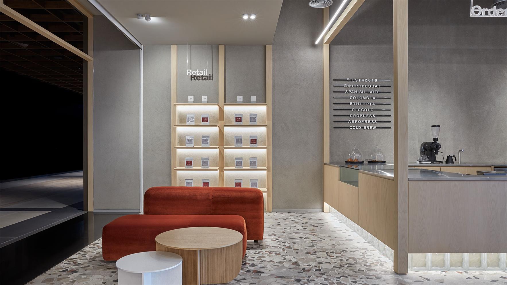 咖啡厅展示墙设计