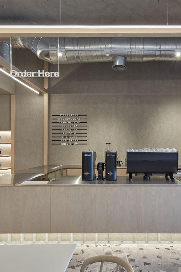 咖啡厅操作吧台设计特写