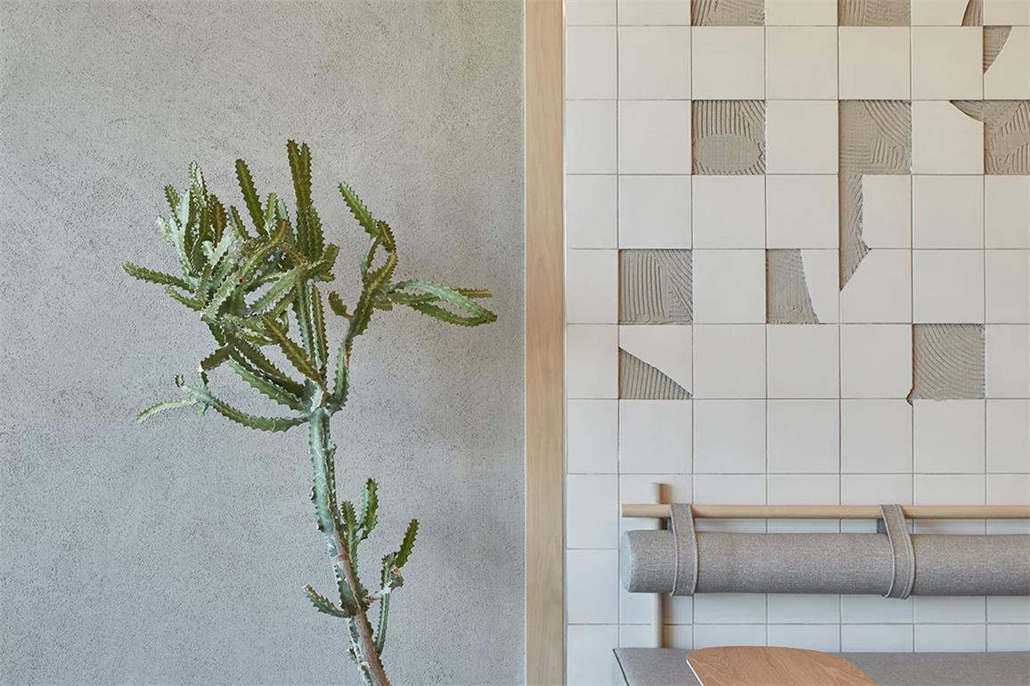 咖啡厅碎片化瓷砖设计特写