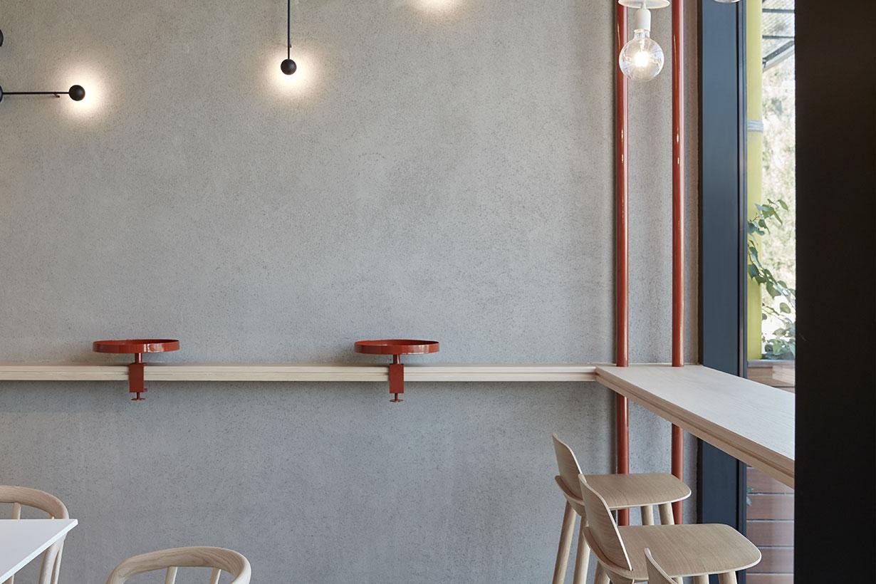 咖啡厅吧台区家具设计特写