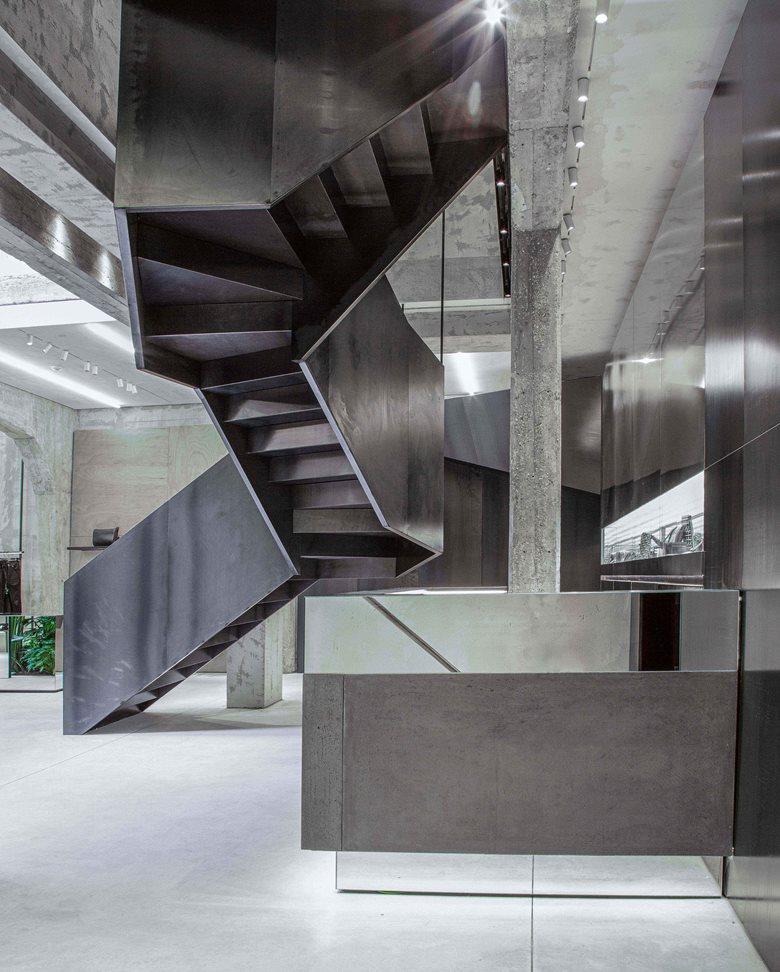 买手店楼梯结构设计特写