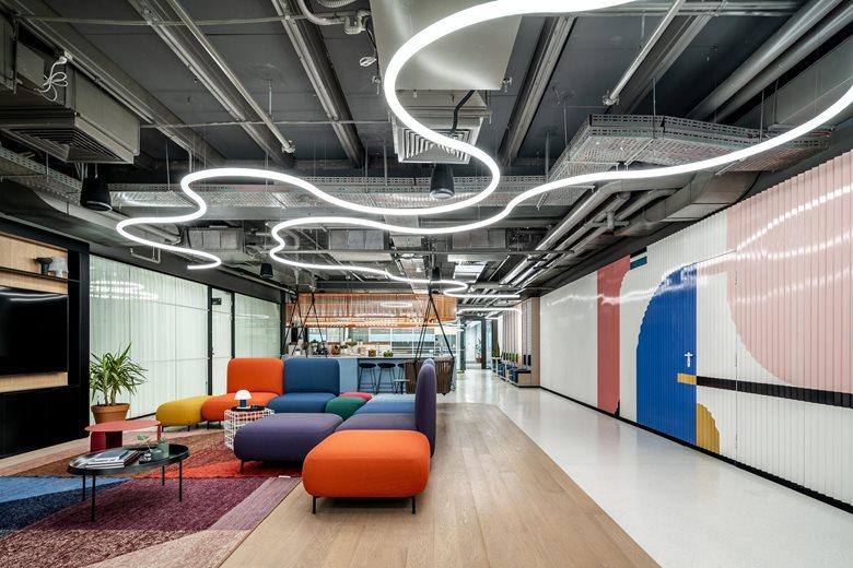 办公室休闲区和走廊设计