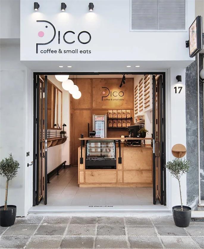 小型咖啡店外立面设计
