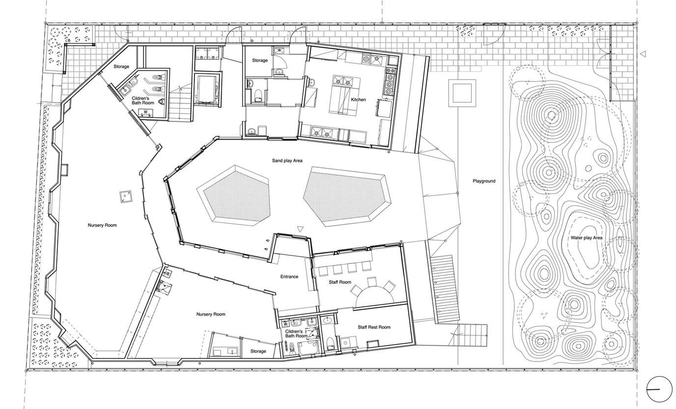 幼儿园二层平面方案设计