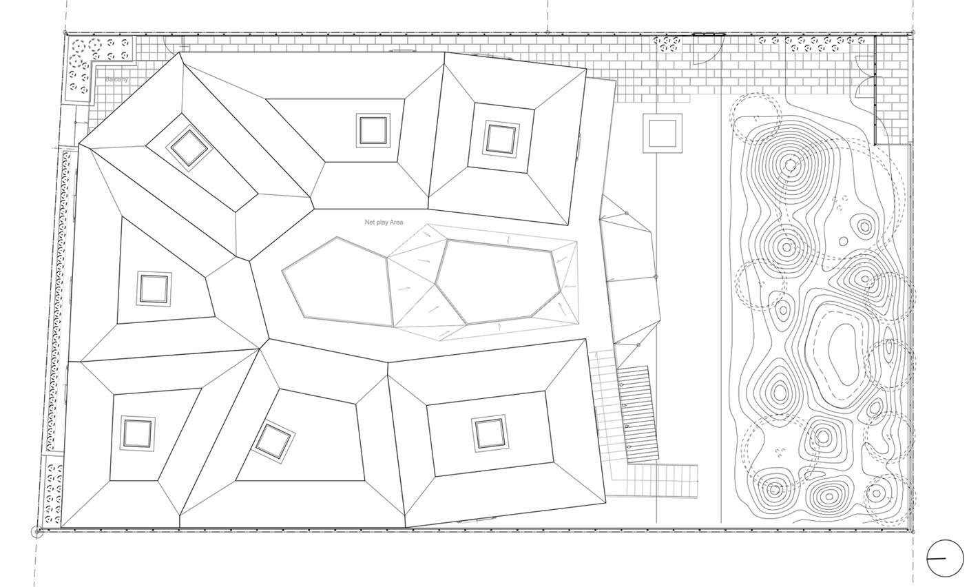 幼儿园建筑顶层平面方案设计