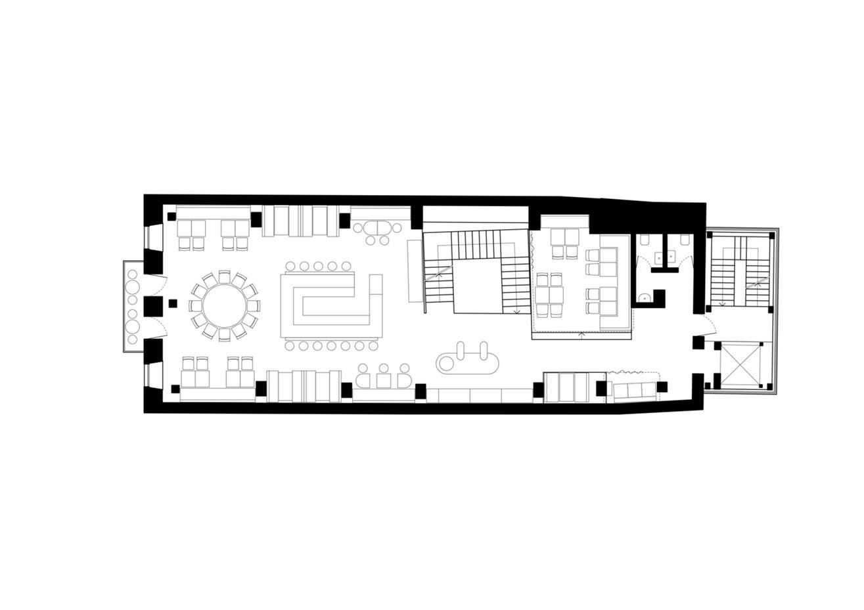 一层酒吧平面方案设计