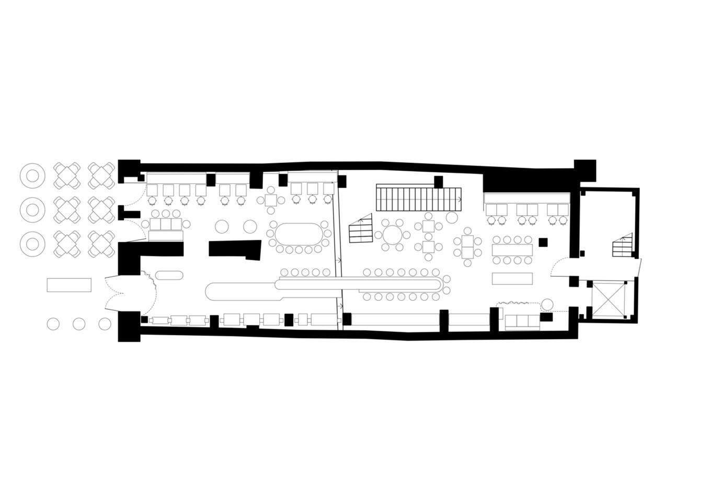 四层酒吧平面方案设计