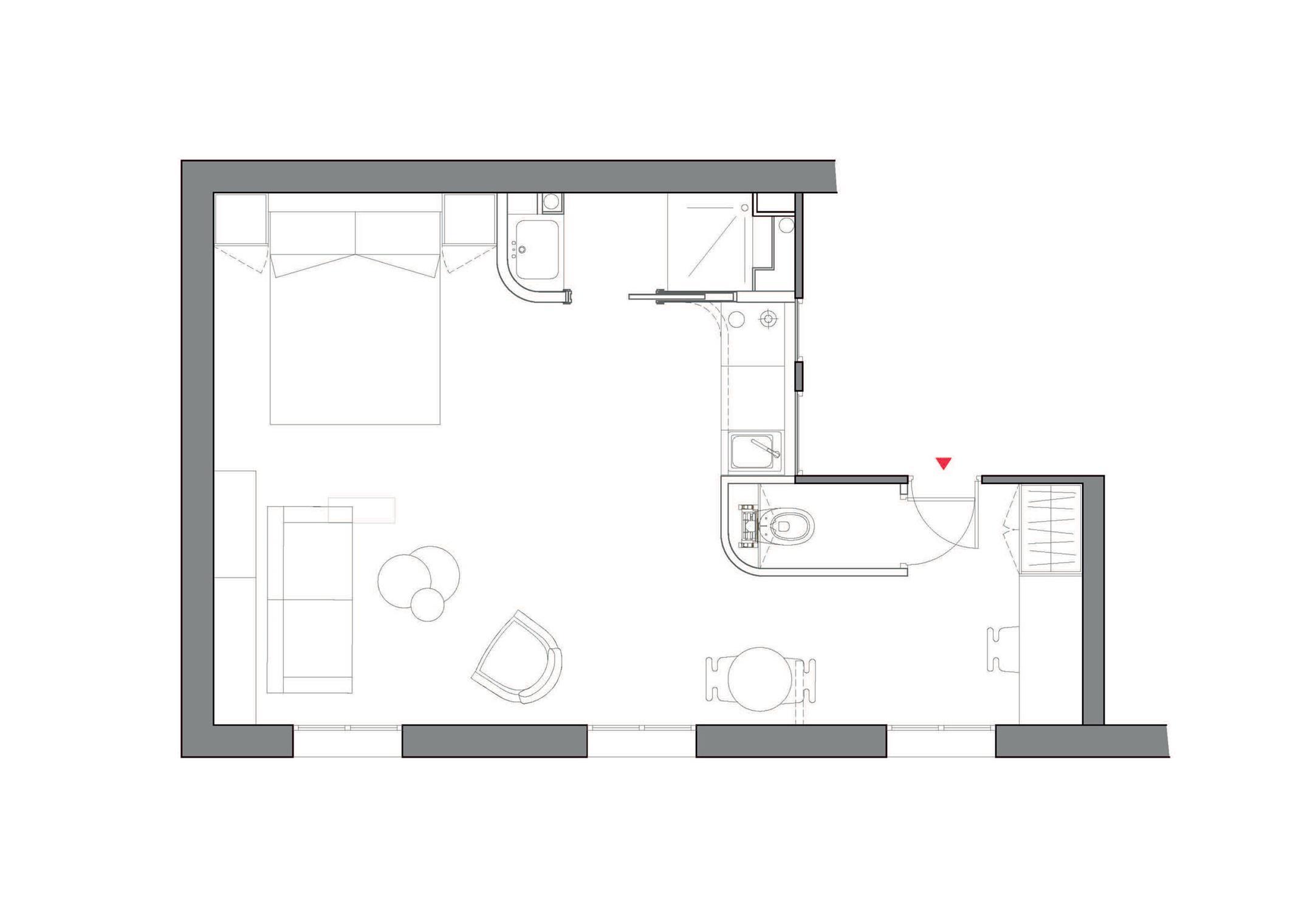 小型公寓平面方案图设计